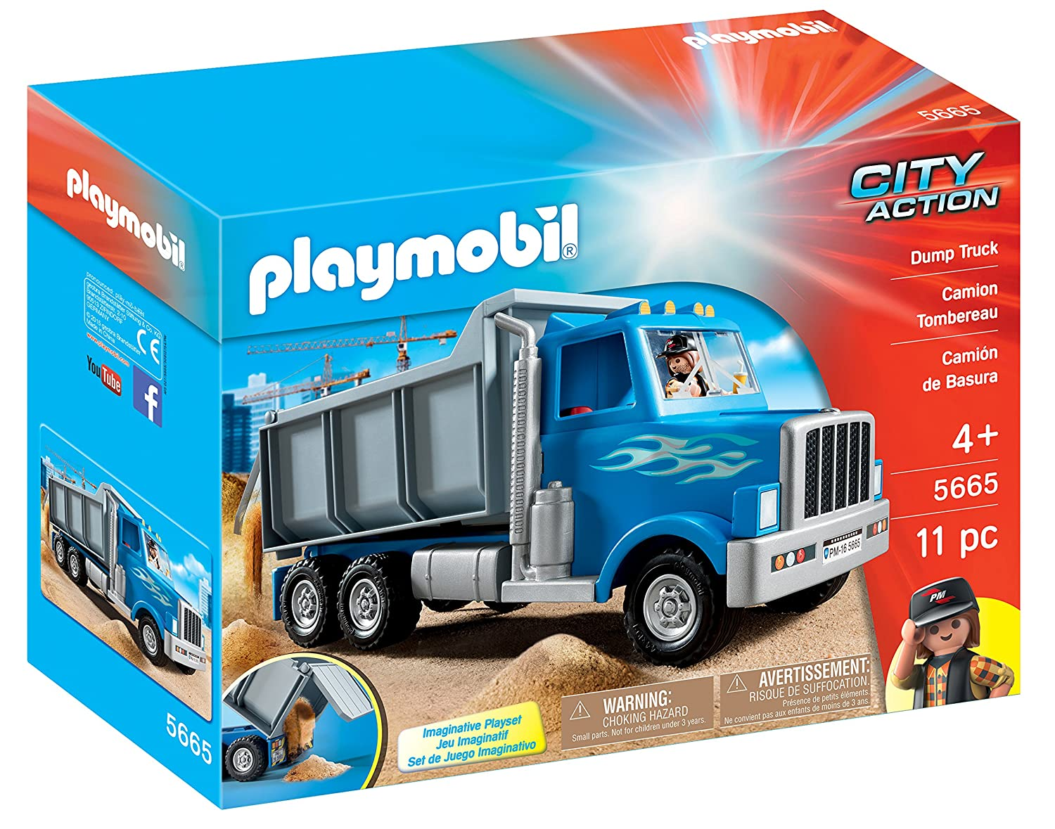 playmobil dump truck playset playset amazon co uk toys u0026 games