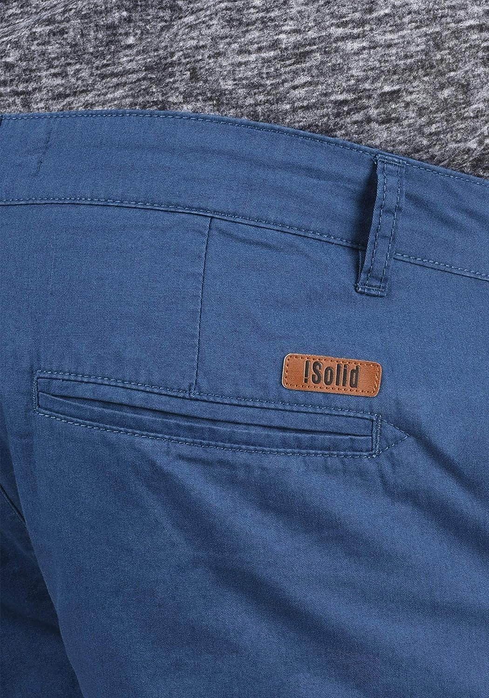 !Solid Thement Pantaloncini Chino Shorts Panno Corti da UomoIn Cotone 100/% Regular Fit