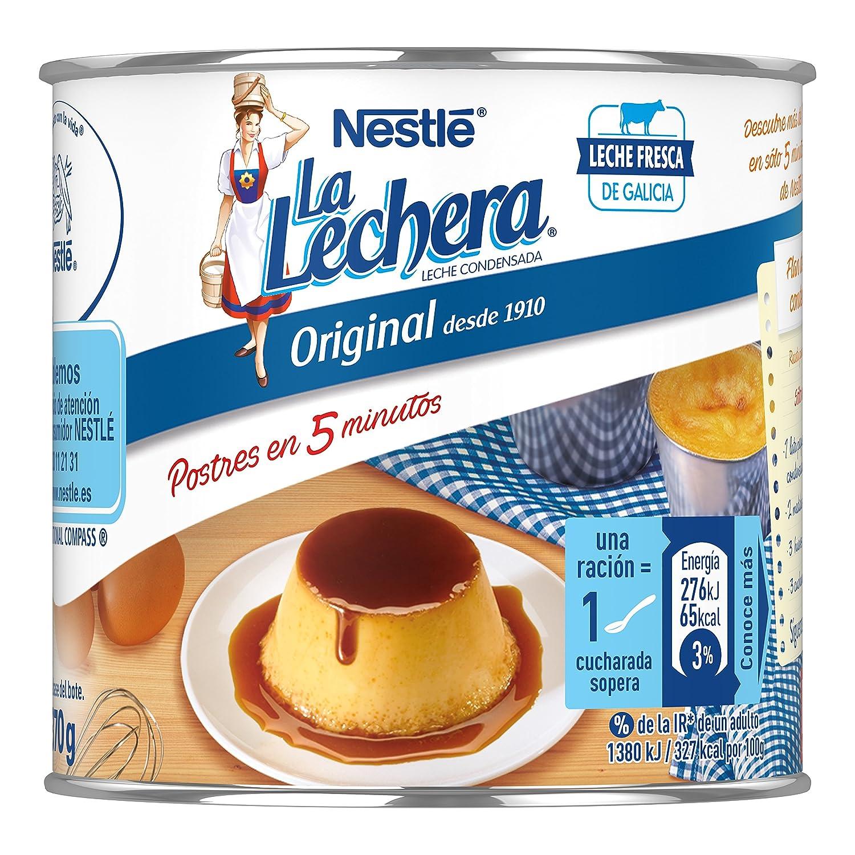 Nestlé La Lechera Leche condensada entera - Lata de leche condensada entera abre fácil - Caja de 12 x 370g: Amazon.es: Alimentación y bebidas