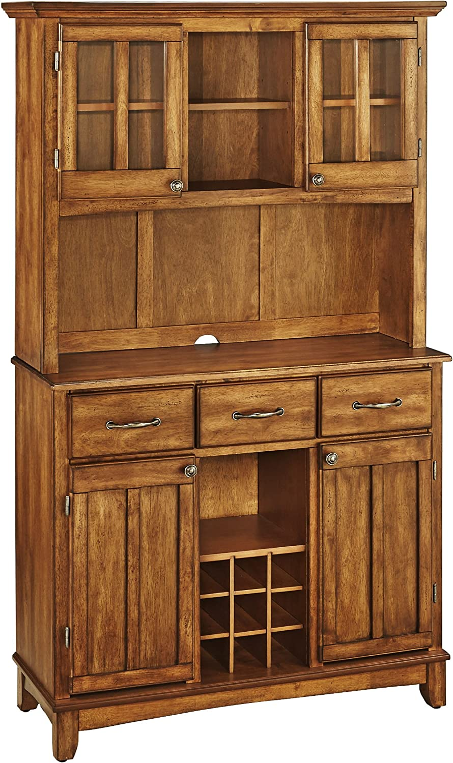 Buffet of Buffets Cottage Oak with Wood Top by Home Styles