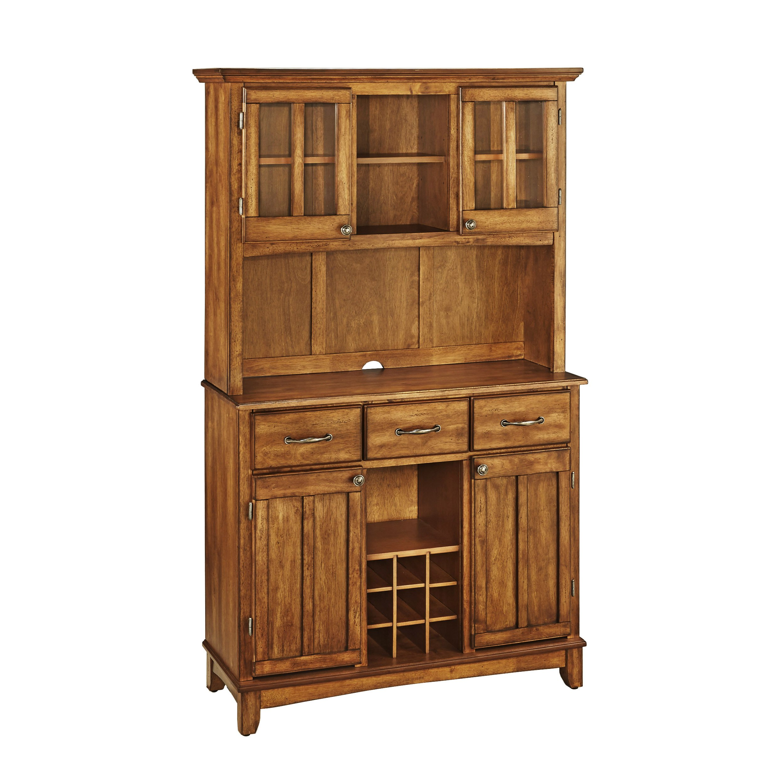 Buffet of Buffets Cottage Oak with Wood Top by Home Styles by Home Styles (Image #1)