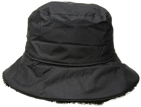 Amazon.com  Nine West Women s Nylon Reversible Faux Fur Bucket Hat ... 802846f0f27