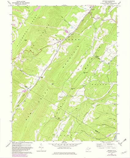 Amazon.com: Historic Map | Antioch, West Virginia (WV) 1967 | USGS ...