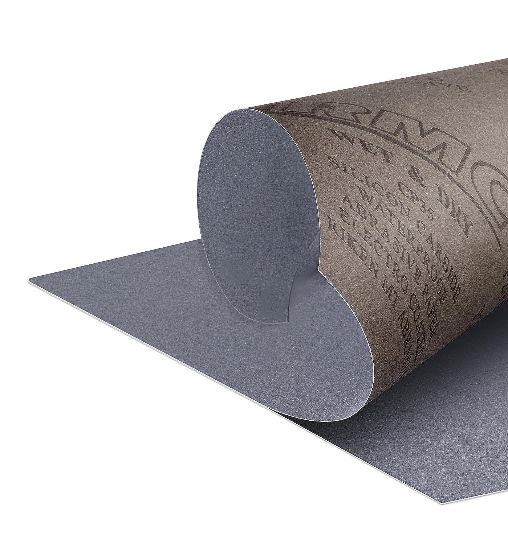 20 Blatt P2000 K/örnung Schleifpapier Nass und Trocken Sandpapier 210 x 110 mm