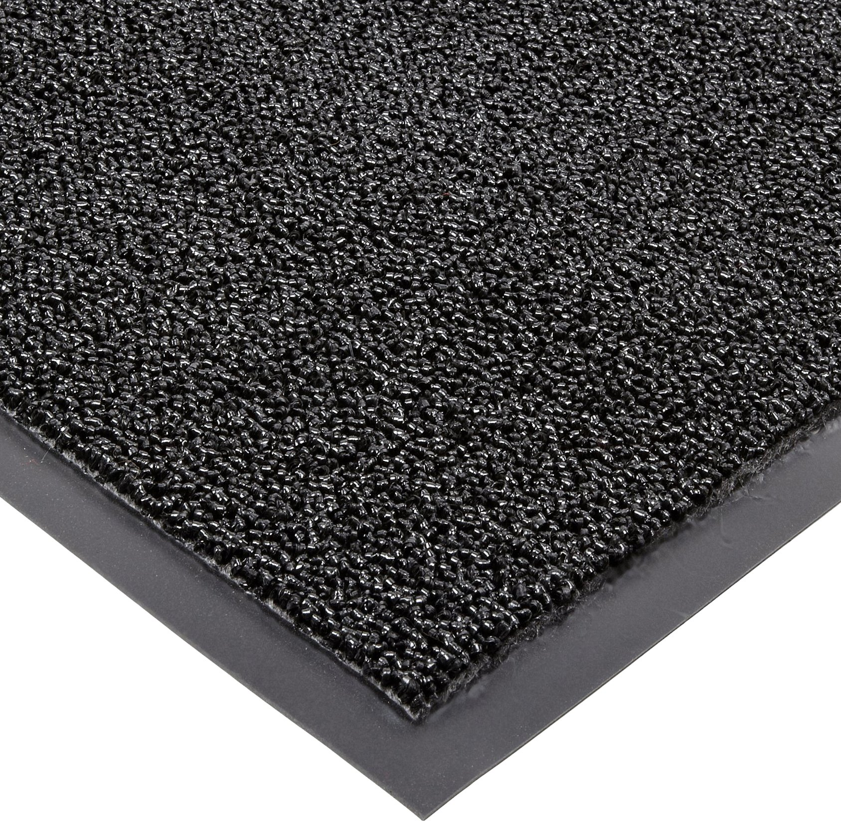 Notrax Non-Absorbent Fiber 231 Prelude Entrance Mat, for Outdoor and Heavy Traffic Areas, 4' Width x 8' Length x 1/4'' Thickness, Black
