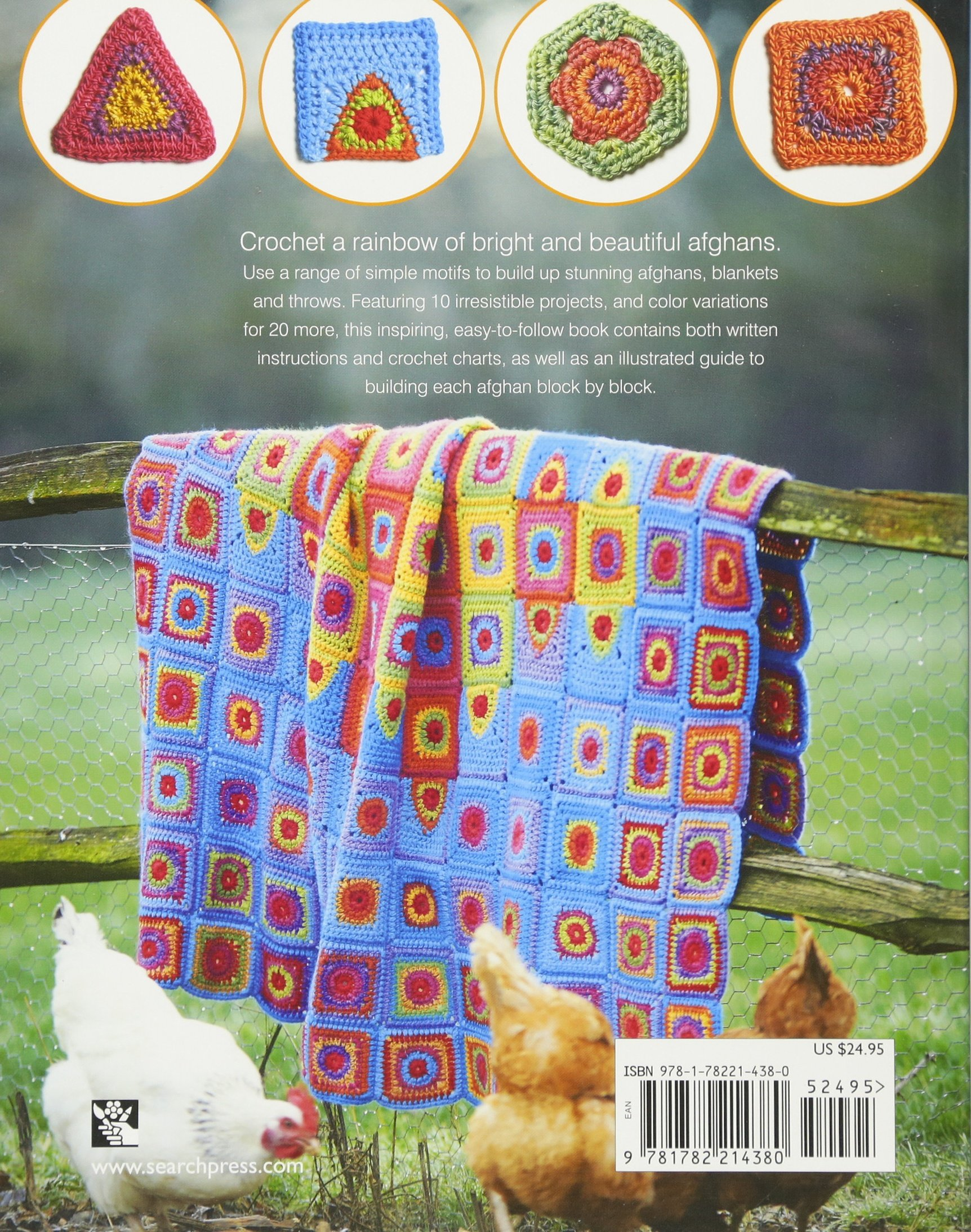 Rainbow Crocheted Afghans: A block-by-block guide to creating 10 colorful  blankets and throws: Amanda Perkins: 9781782214380: Amazon.com: Books
