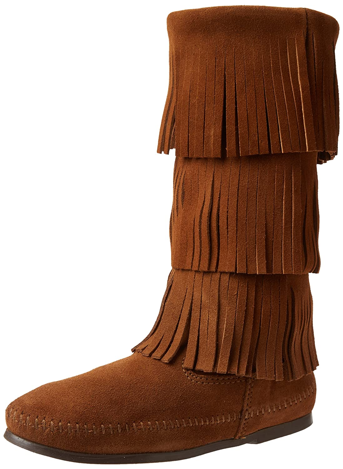 Minnetonka Women's Calf Hi 3-Layer Fringe Boot B00742F9NA 12 B(M) US|Dusty Brown