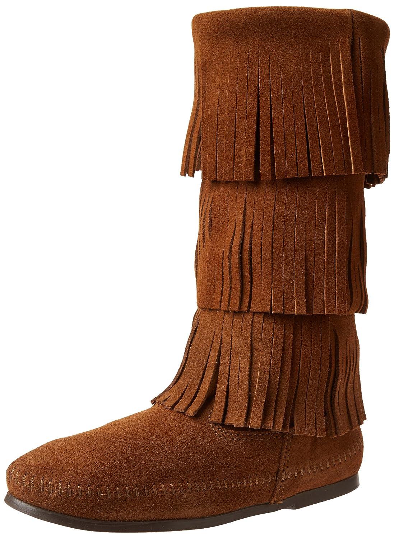 Minnetonka Women's Calf Hi 3-Layer Fringe Boot B00742F9KI 10 B(M) US|Dusty Brown