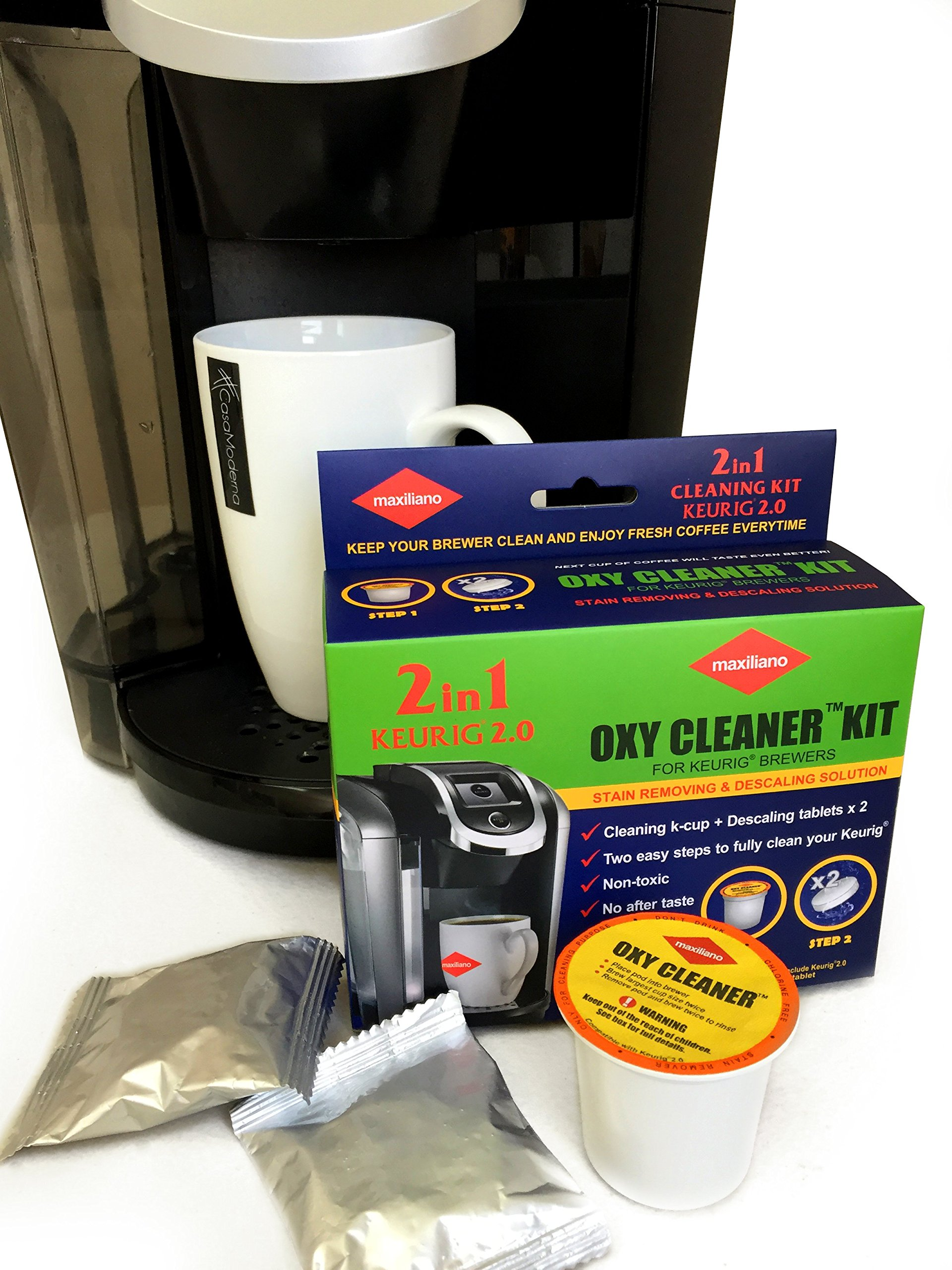 Galleon descaling kit descaler for keurig 2 0 for all k cup keurig brewers biodegradable for Kitchen set toys r us philippines