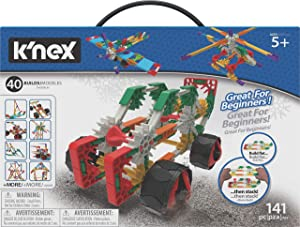 K'nex Beginner 40 Model Building Set - 141 Parts - Ages 5 & Up - Creative Building Toy
