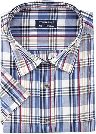 Fenside Country Clothing - Camisa de manga corta para hombre (talla grande, 55 % poliéster, 45 % algodón, talla grande a 6 XL): Amazon.es: Ropa y accesorios