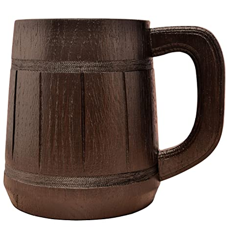 Amazon Com Wooden Beer Mug Men Craft Ipa Drinking Cup Pint Wood