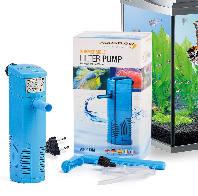 Aquaflow Technology® AIF-013M - Acuario interior filtro de agua dulce o salada acuario tanques de hasta 70 litros: Amazon.es: Jardín