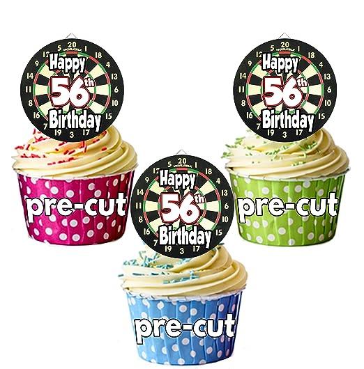 PRECUT: Dardos de diana temática - 56 cumpleaños - adornos ...