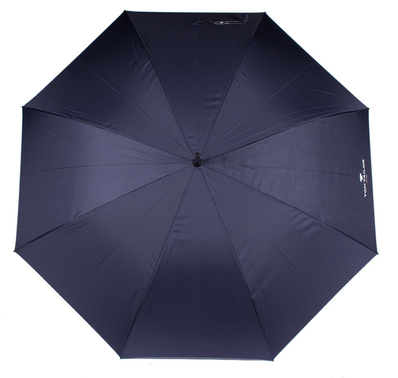 Tom Tailor Regenschirm Stockschirm Schirm Partnerschirm Automatik navy blau neu