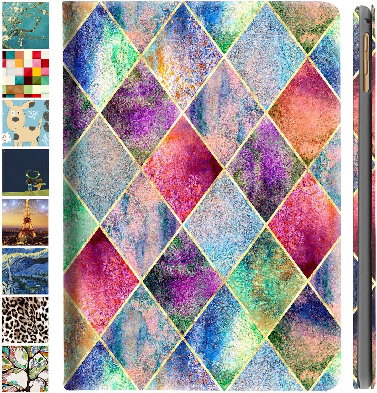 DuraSafe Cases for iPad Mini 3 / Mini 2 / Mini 1-7.9 Inch MGNV2LL/A MGYE2LL/A MGNR2LL/A ME276LL/A ME279LL/A ME277LL/A MGGT2LL/A MGY92LL/A Slim Book Cover with Auto Wake/Sleep Feature - Diamond Grid