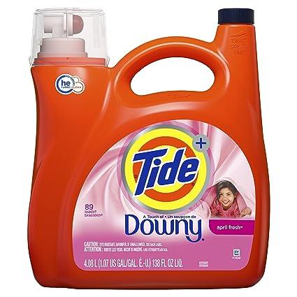 Tide Plus HE Downy Liquid Laundry Detergent, April Fresh, 138 Oz by Tide