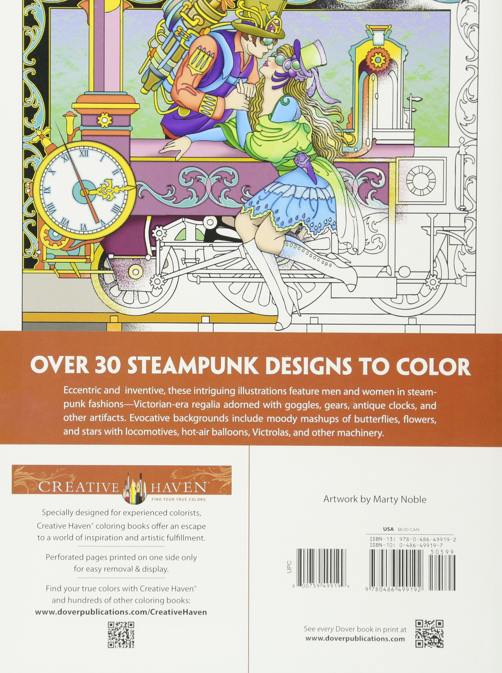 Amazon Creative Haven Steampunk Designs Coloring Book Adult