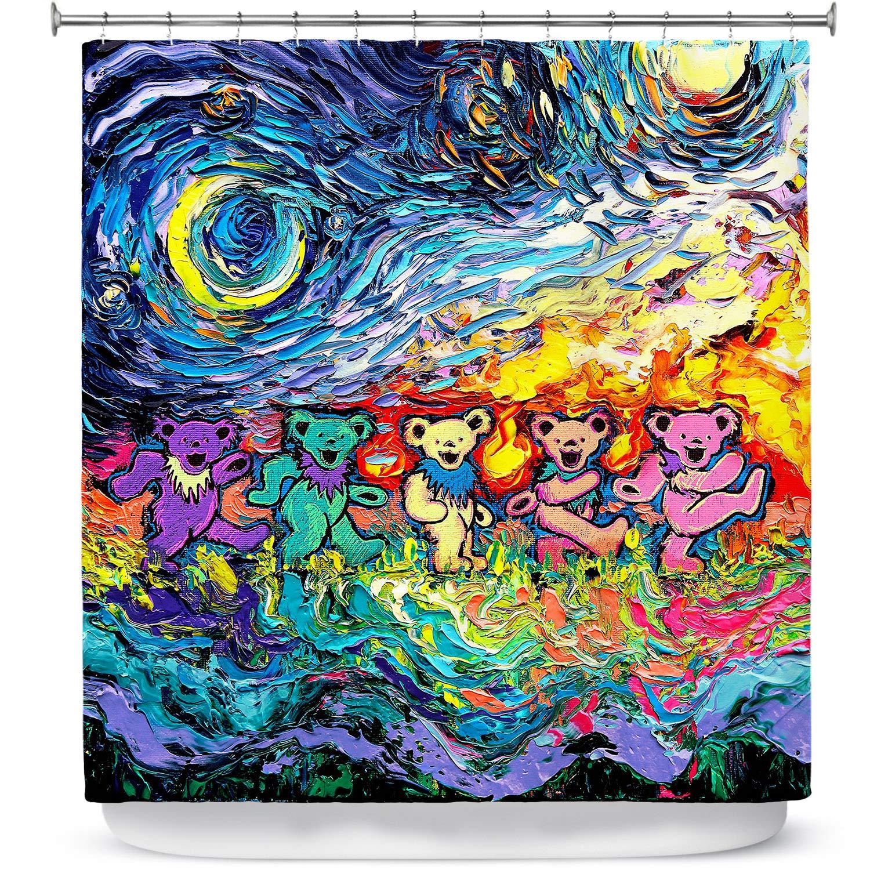 Dia Noche Designs Bathroom Shower Curtains by Aja Ann - Van Gogh Dancing Bears