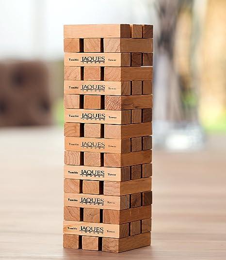 Juego de la jenga de Jaques of London, llega a los 30 cm de altura mientras juegas, juego de interior clásico: Amazon.es: Juguetes y juegos