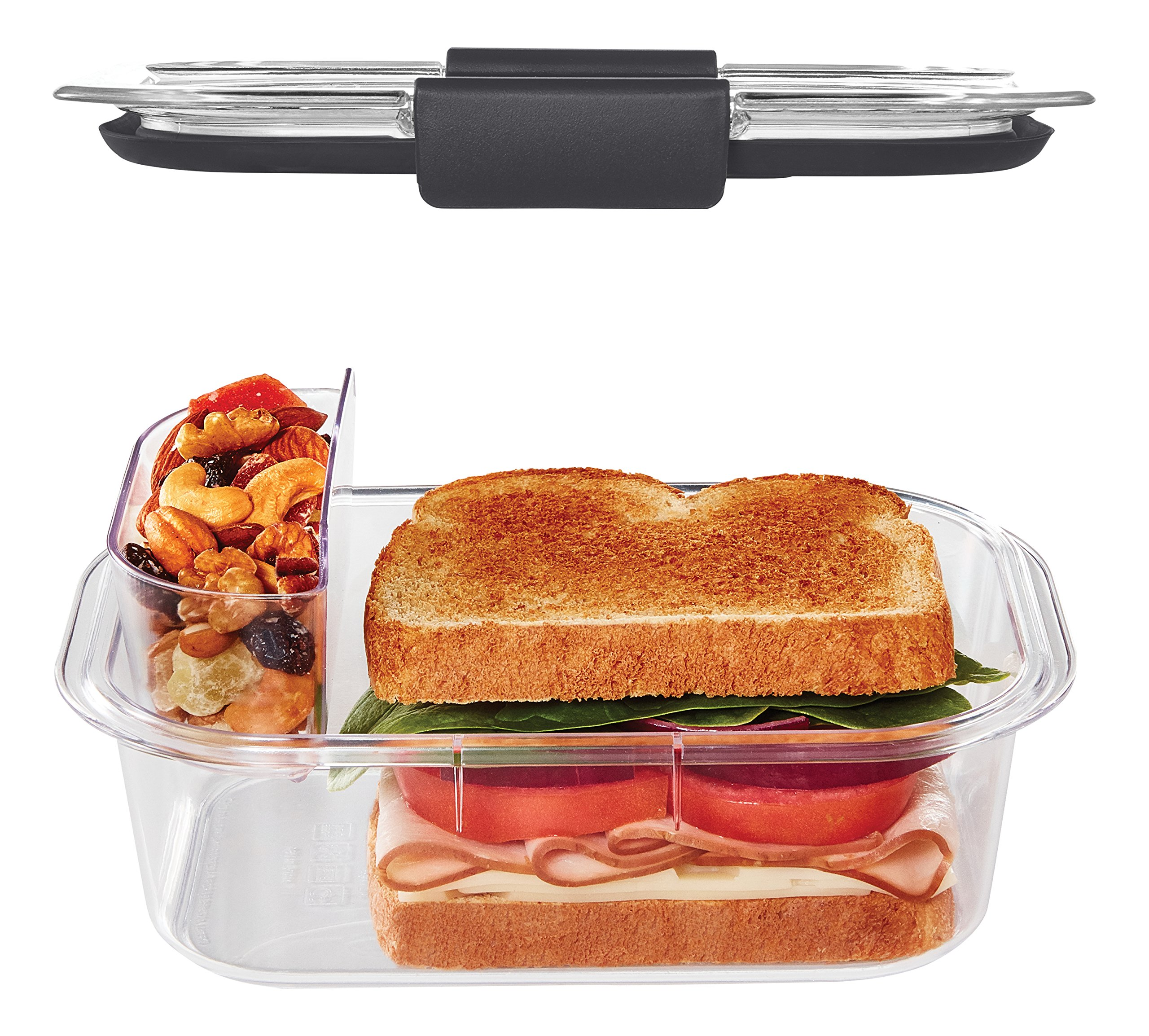 Rubbermaid Brilliance Food Storage Container, Sandwich and Snack Lunch Kit, Clear, 10-Piece Set 1997842 by Rubbermaid (Image #3)