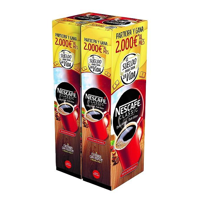 NESCAFÉ Café soluble descafeinado - 2 Estuches De 50 Sobres de Café - 200g