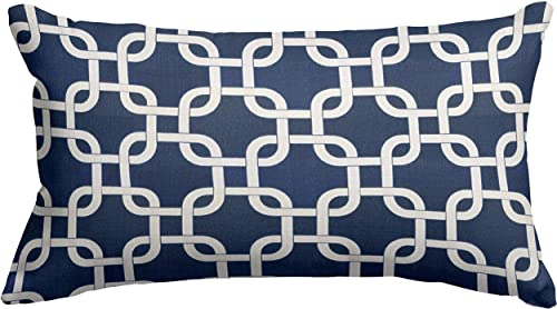 Majestic Home Goods Navy Blue Links Pillow, Small