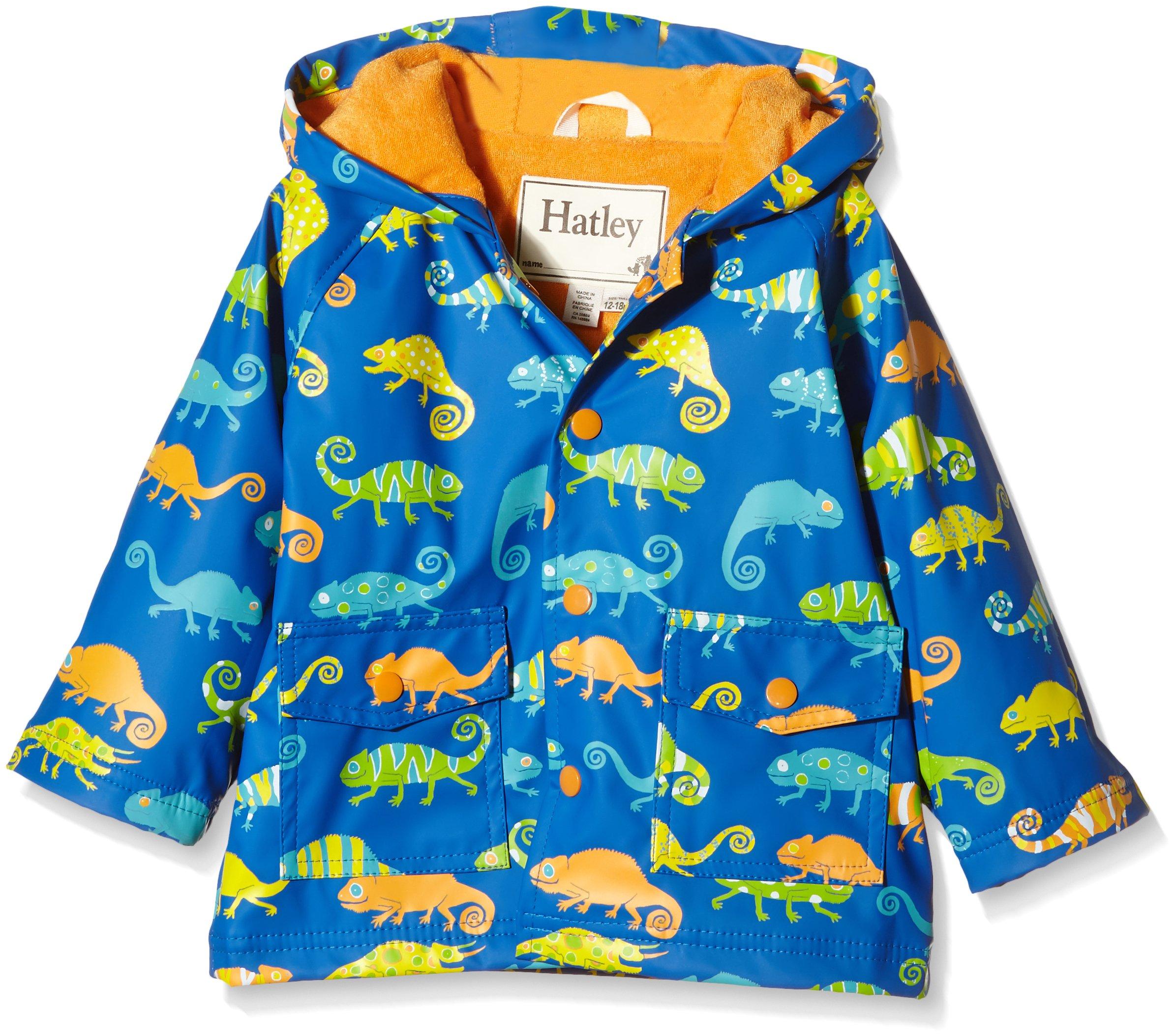 Hatley Baby Boys' Crazy Chameleons Infant Raincoat, Blue, 6-12 Months by Hatley