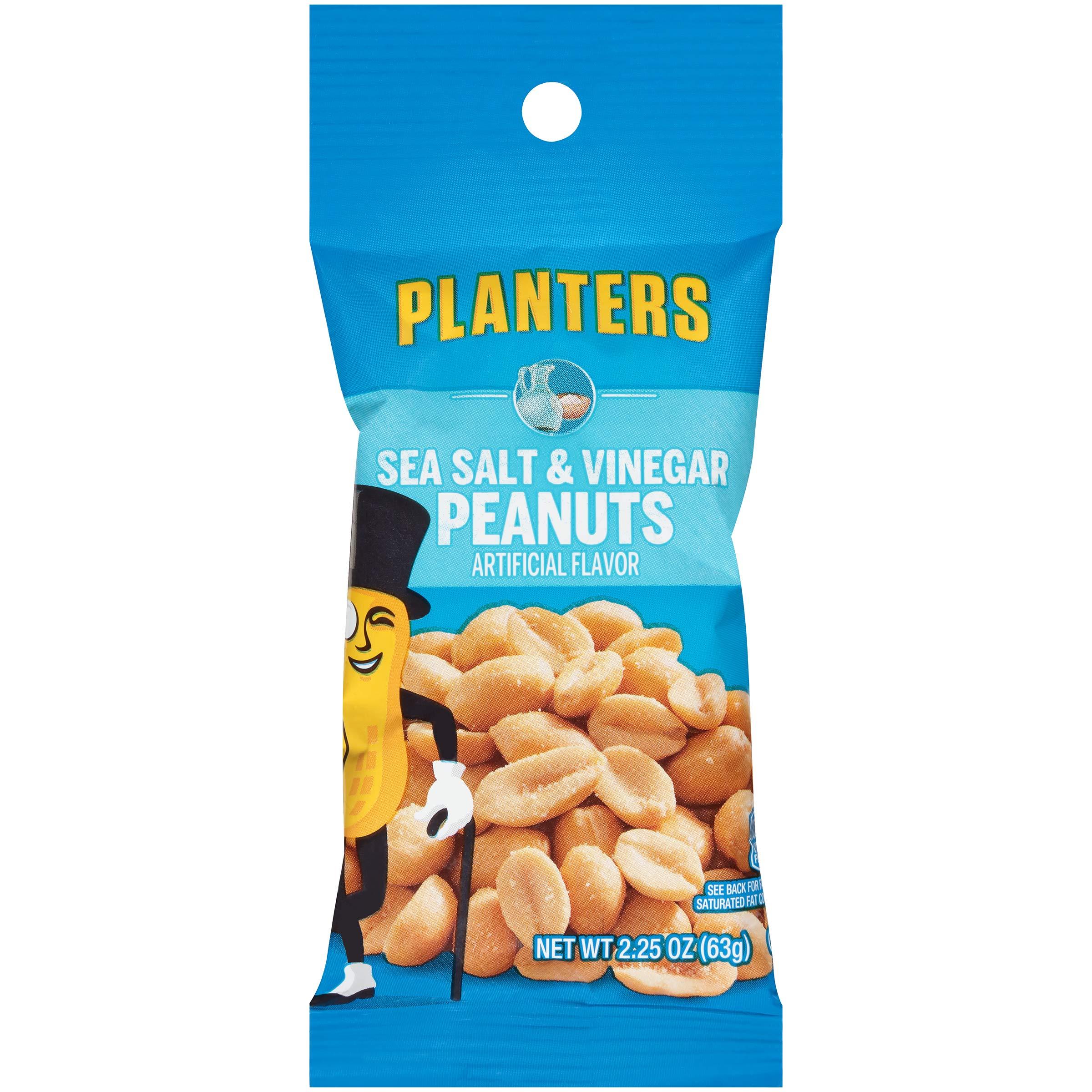 Planters Flavored Peanuts, Sea Salt and Vinegar Tube, 2.25 oz