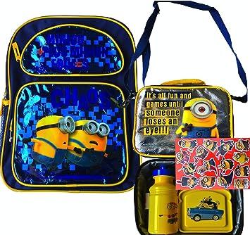 Despicable Me Minions Despicable Me – Mochila escolar con correa caja de almuerzo perfecta para llevar