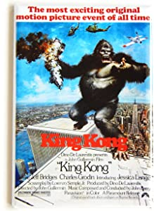 King Kong (1976) Movie Poster Fridge Magnet (2.5 x 3.5 inches)