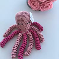 Crochet Octopus for babies, octopus for preemies - Light pink and pink