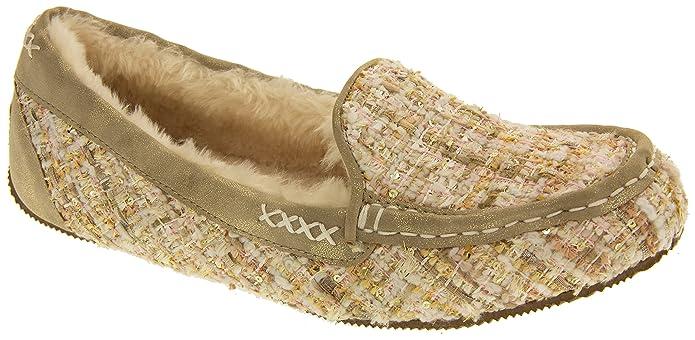 Skechers Damen Memory Foam Mokassin Pantoffeln Natürliche EU 36: Amazon.de:  Schuhe & Handtaschen