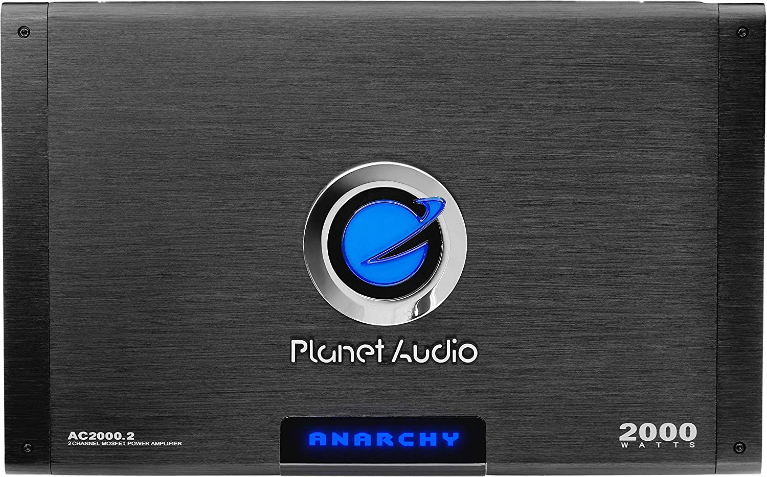 2000 Watts Class A-B Planet Audio AC2000.2 2 Channel Car Amplifier Mosfet Power Supply Full Range Bridgeable 2-4 Ohm Stable