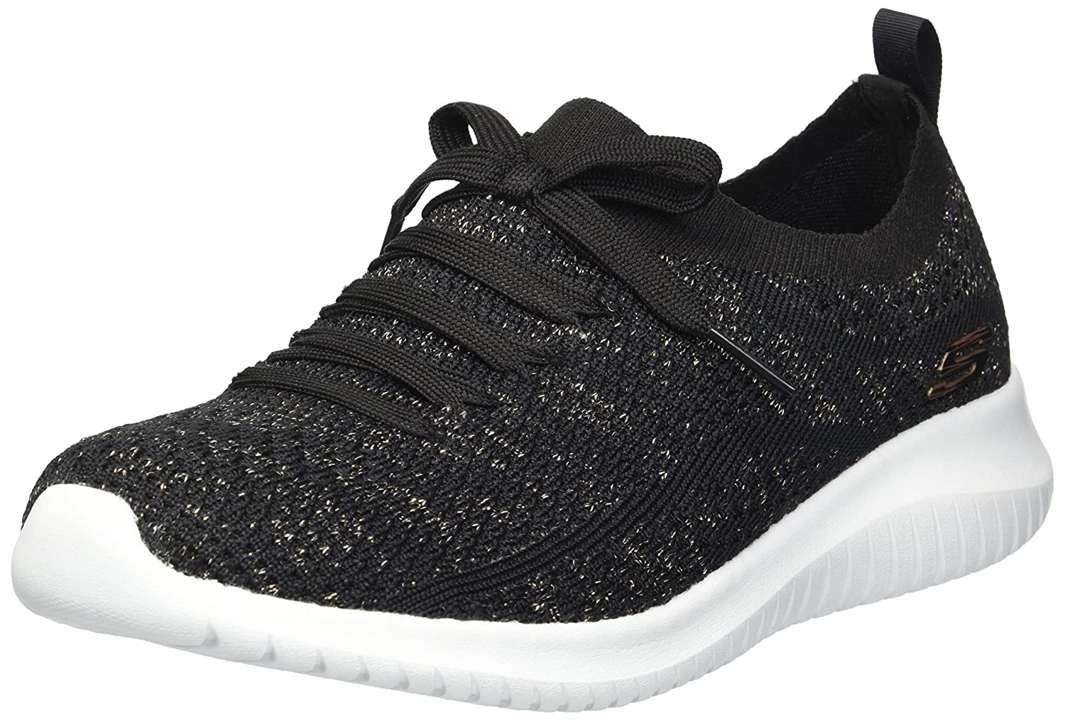 Skechers Women's Ultra Flex Salutations Sneaker B074BY5ZJP 9.5 B(M) US|Black/Gold