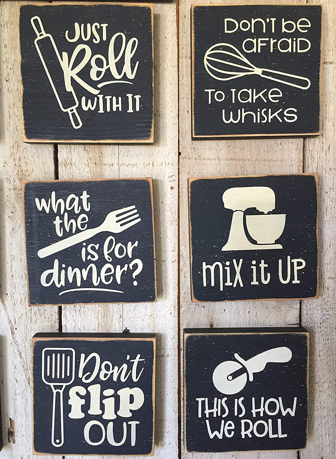 Amazon.com: Delia7Agnes Funny Kitchen Wall Art Cooking Pun Signs
