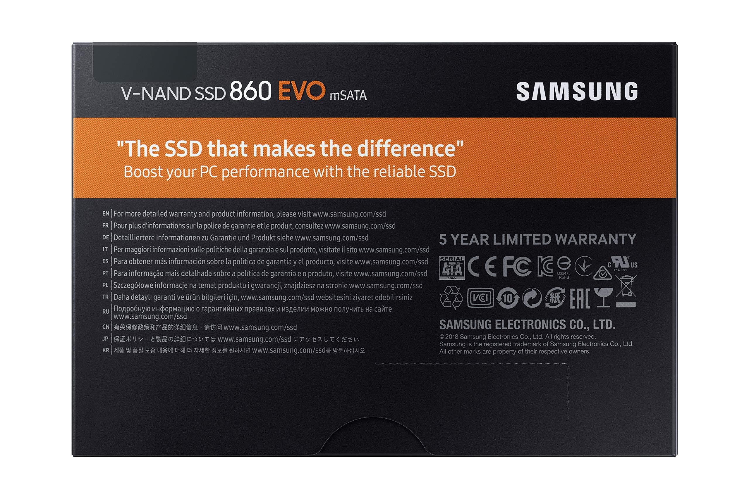 Samsung SSD 860 EVO 1TB mSATA Internal SSD (MZ-M6E1T0BW) by Samsung (Image #11)