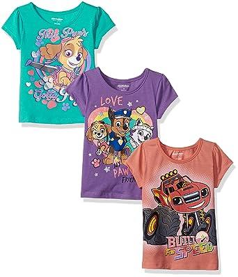 3a354ca39 Amazon.com: Nickelodeon Girls' Little Girls' Blaze and Paw Patrol 3 ...