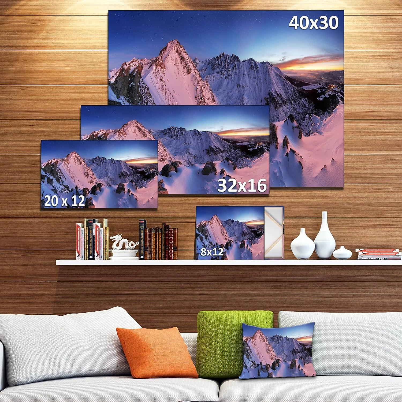Designart Pt11157 20 12 Slovakia Tatras Winter Mountains Landscape Wall Art Canvas Print 20x12 12 H X 20 W X 1 D 1p Wall Art Posters Prints