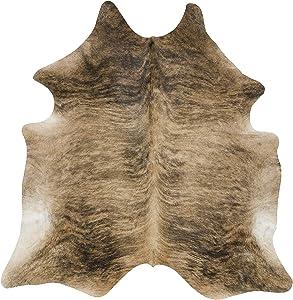 Tomtom Cowhides Brindle Tan Cowhide Rug 100% Natural Leather Rugs 7' x '6