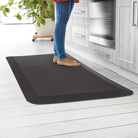 Lavish Home Anti-Fatigue Mat- Durable Thick Cushioned Floor Mat- Soft  Non-Slip Comfortable Padding in Home, Kitchen, Bath, Office, Standing Desk,  ...