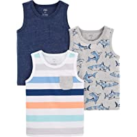 Simple Joys by Carter's Camiseta sin Mangas Niños, Pack de 3