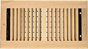 Decor Grates WL612W-U 6-Inch by 12-Inch Wood Wall Register, Unfinished Oak