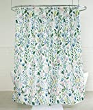 """Splash Home 71SIAFL/FPMLTSPL Sia Floral Polyester Fabric Shower Curtain, 70"""" x 72"""", Multi Colors/Green, Inches"""