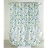 """Splash Home Sia Floral Polyester Fabric Shower Curtain, 70"""" x 72"""" Inches, Multi Colors/Green"""