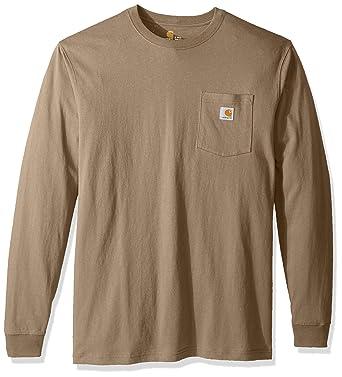 e8f4da50f2e Amazon.com  Carhartt Men s Big   Tall Workwear Pocket Long Sleeve T Shirt  K126  Clothing