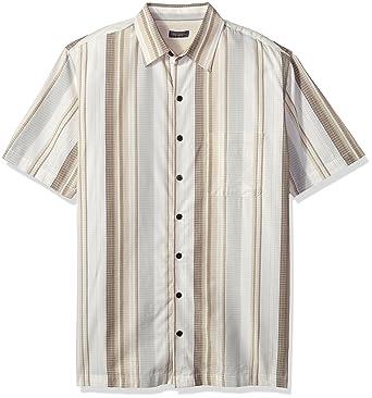 dc1fc1c5 Van Heusen Men's Tall Size Big Air Short Sleeve Shirt, Brown Rice Khaki,  2X-Large Tall at Amazon Men's Clothing store: