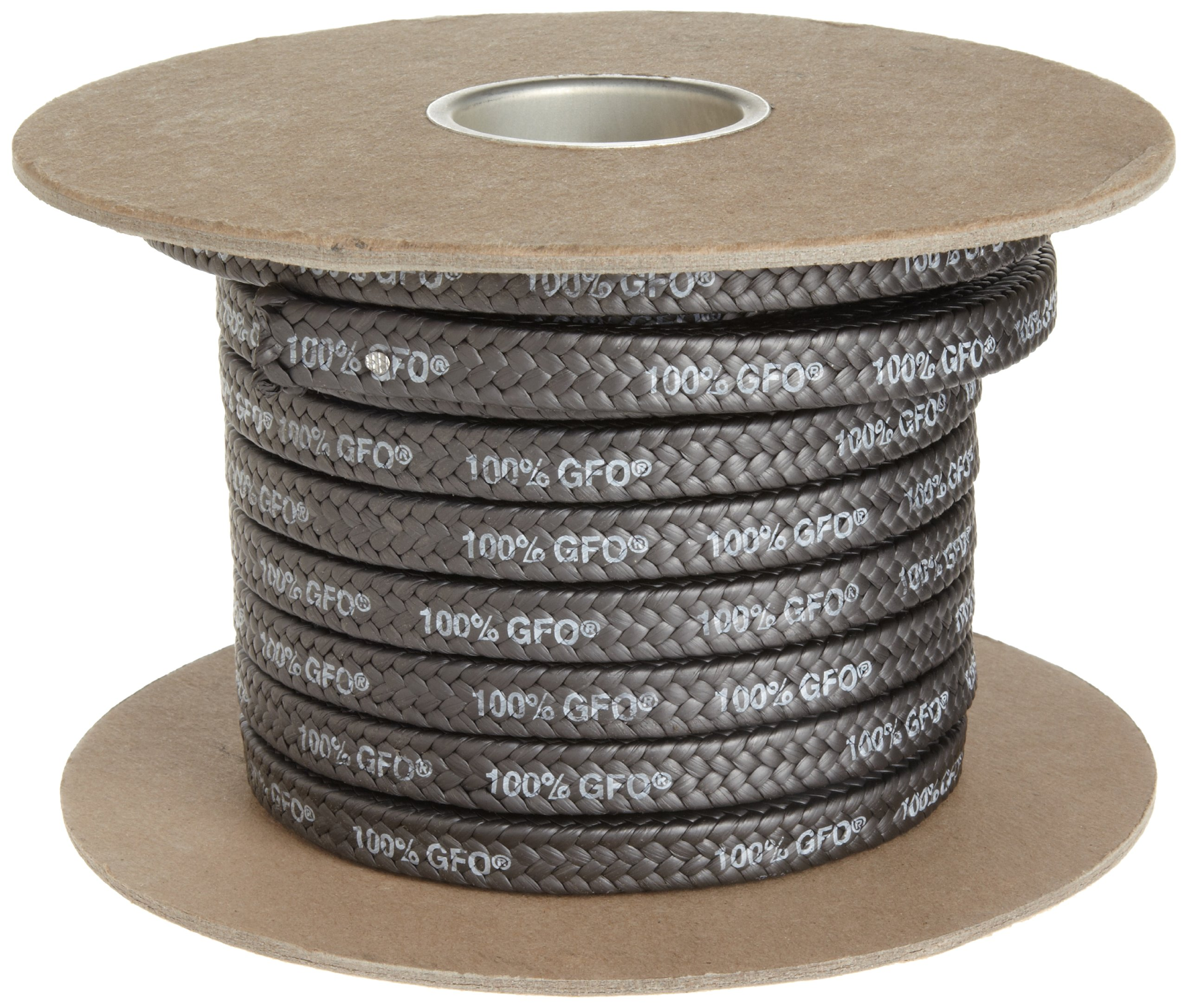 Palmetto 1389 Series 100% GFO Expanded PTFE with Graphite Compression Packing Seal, Dull Black, 1/4'' Square, 5' Length by Palmetto Packings