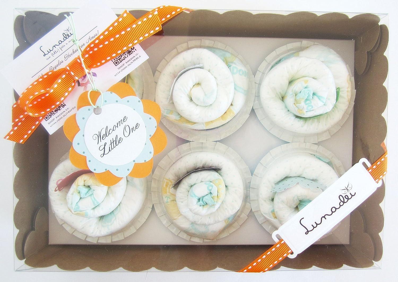 Caja de Cupcakes hechos con Pañales DODOT | Regalo Original para ...