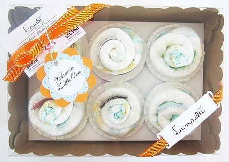 Caja de Cupcakes hechos con Pañales DODOT | Regalo Original ...